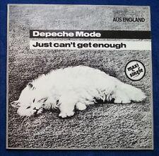 """Depeche Mode Just can't get enough WHITE weißes Vinyl Single 12"""" 1981 RARITÄT"""