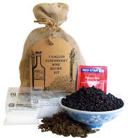 1 Gallon Elderberry Wine Ingredient Kit - Sambucus Nigra - Elderberries