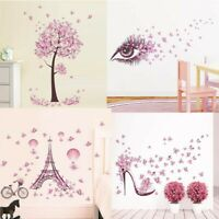 Angel Flower Girl Butterfly Flower Fairy Wall Stickers for Room Art Decoration