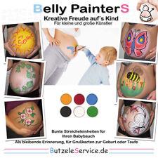 Farben Set Schwangerschafts Baby Bauch bemalen Erinnerung Bemalung Shower Party