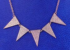 14K Rose,Yellow or White Gold Multi Triangle Diamond Necklace (Dia 0.48cts)