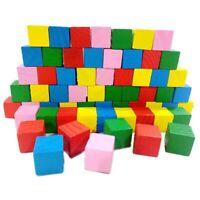 Kinder Farbenreich Holz Bausteine Set Stapel auf Spielzeug Spiel Neu Neu
