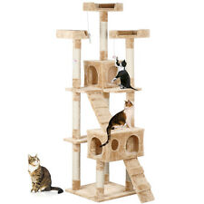 New Cat Kitten Tree Tower Post Toy Condo Scratch Post Pet House for Play Beige
