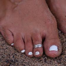 Tibetan Silver Adjustable Classic Wave Toe Ring TI00131