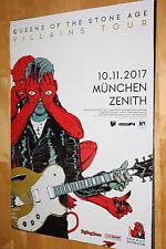 Queens of the Stone Age Tourplakat/Tourposter 2017 -  NEU - München