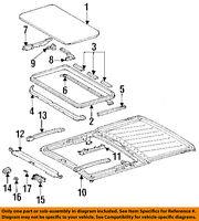 MERCEDES OEM 86-91 420SEL-Sunroof Wind Air Deflector 1267800544