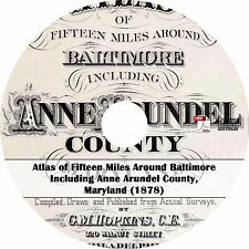1878 Atlas of Baltimore & Anne Arundel County, Maryland -History Maps Book on CD