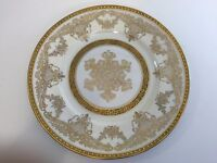 "Rare Made in France for J.W. Robinson Gold Trim Dinner Plate, 10 3/4"" Diameter"
