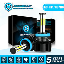 H11 H9 H8 6 Side LED Headlight Bulb Kit Low Beam Fog Light 2800W 6000K 420000LM