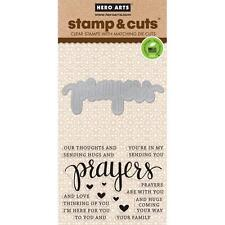 Hero Arts Stamp & Cut Prayers #836 DC183 Stamp with Die