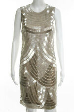 Naeem Khan Ivory Beaded Crew Neck Cocktail Dress Size Small New $5990