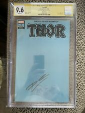 SS CGC 9.6 THOR #1 BLANK 1:500 BLUE MARVEL VARIANT LGY 727 Signed Donny CATES