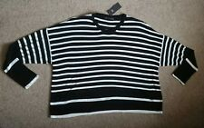 NEW M&S BLACK/WHITE TOP SIZE 24 rrp £25