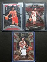 (3) 2019 Three Card Coby White Rookie Lot Prizm Select Jersey #253 Bulls