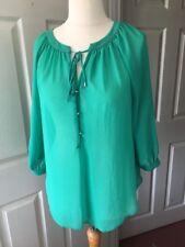 Wallis Verde Chiffon Blusa Camicia S