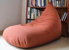 Large BEAN BAG Cover, Brown/Brick Orange 100% COTTON Handloom