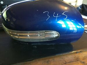 MERCEDES C CLASS W 203 FACELIFT  /  O/S DRIVER  WING MIRROR COVER BLUE 345