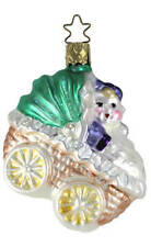 Inge Glas Rubber Baby Buggy Bumper 1-036-02 German Glass Christmas Ornament