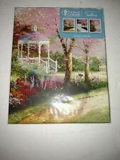 Morning Dogwood Gazebo by Thomas Kinkade 8 x 10 Canvas Painting