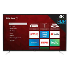 TCL 4 Series LED 4K Ultra Smart Tv with Roku, 55 Inches (Certified Refurbished)