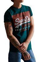 Superdry VL O Crew Neck T-shirt Print Crew Neck Cotton Tee Pine Green