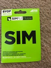 Simple Mobile Sim Card - Bring Your Own Phone