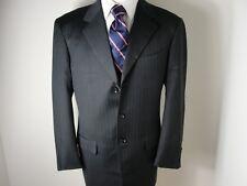 Pal Zileri Men's 3 Button  Blue Stripe Wool 2 Pc Suit Italy Sz-40L/W34
