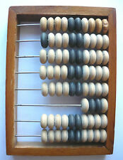Old vintage Soviet Russia USSR small wooden calculator Abacus