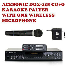 Acesonic DGX-218 CD+G DVD Karaoke Player with Wireless Microphone