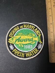 Vintage 1983 Maryland Fresh Water Fishing Award Patch