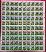 USA Briefmarken Bogen 100x 19 Cent 1991 Fawn Scott# 2479 Stamp Sheet 3327
