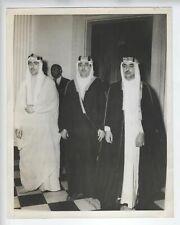 PRINCE SYRIA 1945 PRESS PHOTO VINTAGE LEVANTINE 7X9 INCHES WASHINGTON D.C.