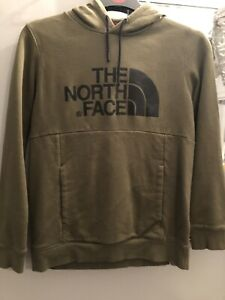 Ladies Green North Face Hooded Top Size Medium
