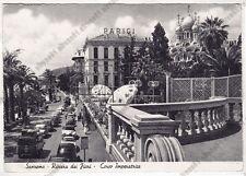 IMPERIA SANREMO 269 HOTEL PARIGI - AUTOMOBILI d'EPOCA Cartolina VIAGGIATA 1958
