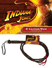 INDIANA JONES Whip Costume prop 6' Leather Bullwhip NEW