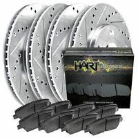 TITAN 2011-2012 Brake Rotors FULL KIT POWERSPORT DRILL//SLOT /& PAD