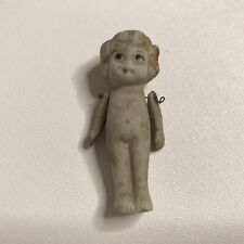 Antique Vintage Miniature Baby Doll Jointed Arms Bisque Ceramic Carnival Prize