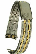 Correa de Reloj de Acero Inoxidable Bicolor Cierre Desplegable Repuesto - 13MM