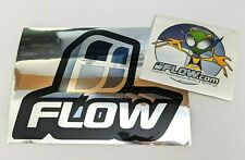Vintage Snowboard FLOW Chrome Mirrored and Alien Sticker Decal LOT
