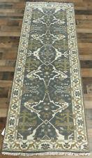 "2'5""x8' New Hand knotted Wool Gray Turkish Oushak Oriental Modern rug runner"