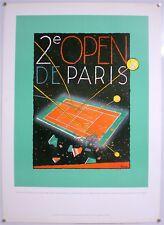 GILLES MARIE BAUR – AFFICHE ORIGINALE OFFICIELLE -2ème OPEN DE PARIS BERCY -1987