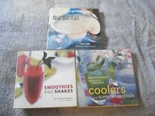 Lot Of 3 Bartender'S Modern Margaritas/Cocktails/Smoo thies/Shakes Recipe Books