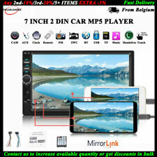 2DIN 7''Car FM Radio Stereo Mirror Link Bluetooth USB/TF/AUX/Remote Touch Screen
