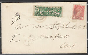 Canada Scott #F2 & #41 Cover Dec 28, 1892 to Meaford, ON