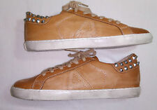 Ash ( Limited by Ash )Tan Leather Trainers + studs Sneakers EU 42/ UK 8/ 28.5cm