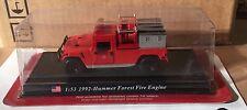 "DIE CAST "" 1992 - HUMMER FOREST FIRE ENGINE "" VIGILI DEL FUOCO DEL PRADO 1/53"