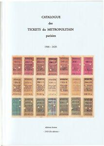 catalogue des tickets du métro parisien