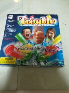 TROUBLE BOARD GAME 'THE GAME THAT DRIVES YOU POPPING MAD' - MB GAMES PRE-OWNED.