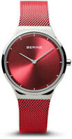 Bering Time Watch - Classic Ladies Polished Red Dial & Band 12131-303