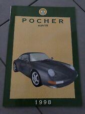 1::8 1:18 1:24 1:43 Catalogo Automodelli POCHER Torino 1998 Scala 1:8 rivarossi